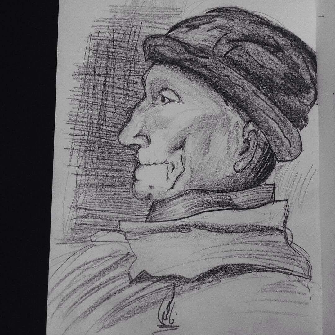 الفنانه المصريه فاطمه ايمنتبدع في رسم كبير السن Drawing Old Man Art Male Sketch Male