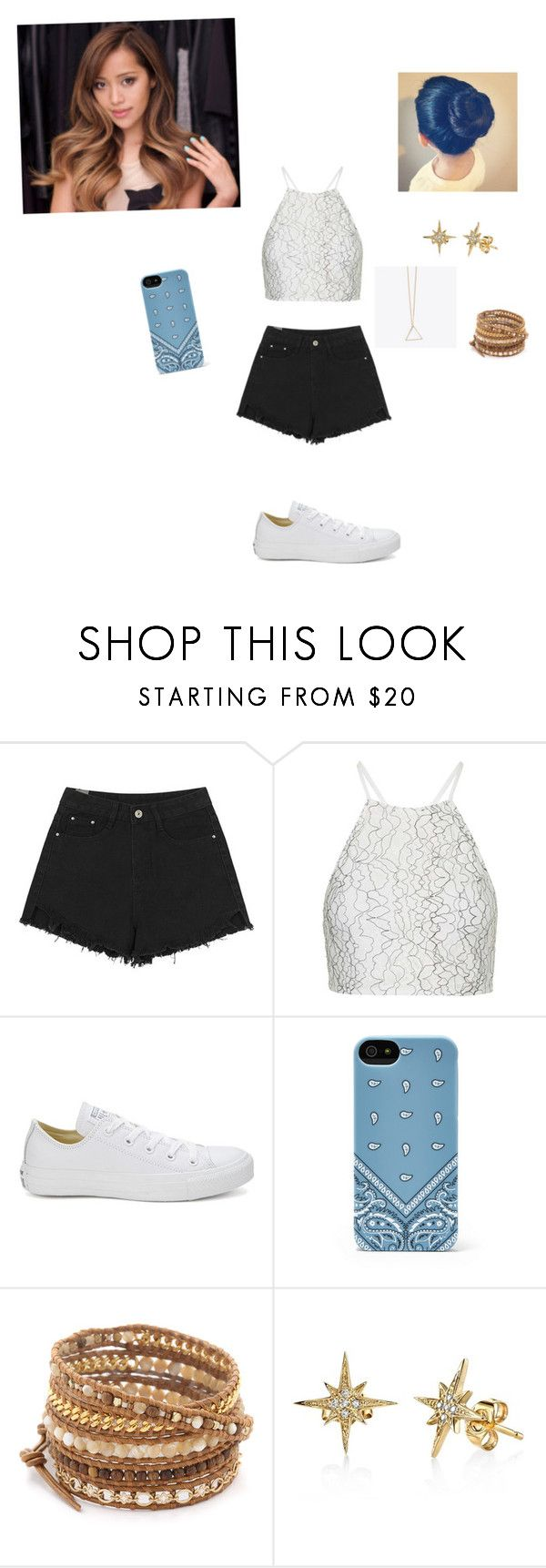 """""""A Day With Michelle P."""" by kawaii-inspired ❤ liked on Polyvore featuring Topshop, Converse and Chan Luu"""