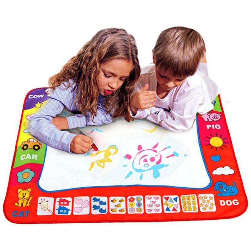 80x60cm Kids Magic Water Doodle Drawing Mat Toy Writing Painting Magic Pen Board