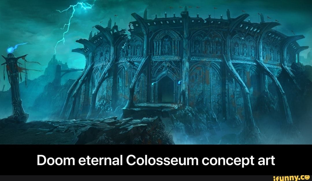Doom Eternal Colosseum Concept Art Doom Eternal Colosseum