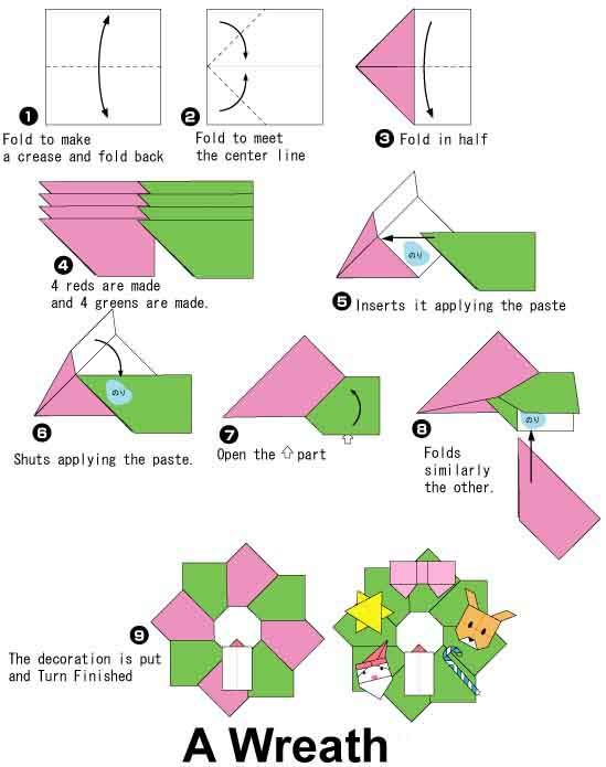 an origami and embroidery site even though the origami entry will rh pinterest ca Holiday Origami Origami Xmas