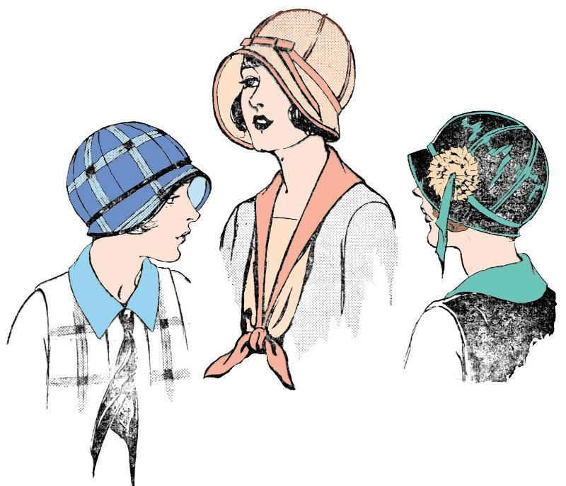 H7473 - 1920s Cloche Hat With Ribbon Trim Sewing Pattern - Gatsby ...