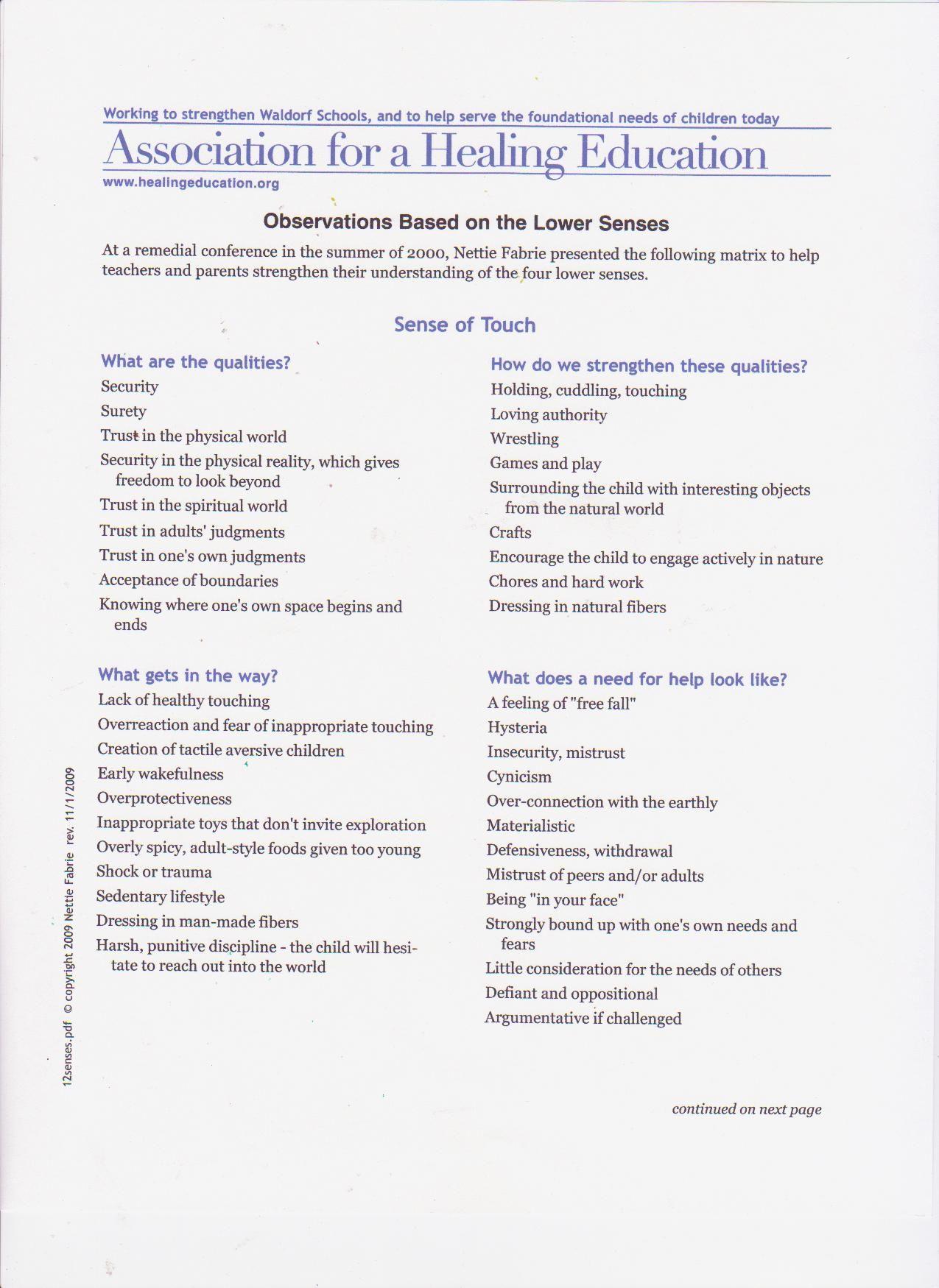 12 Senses Article