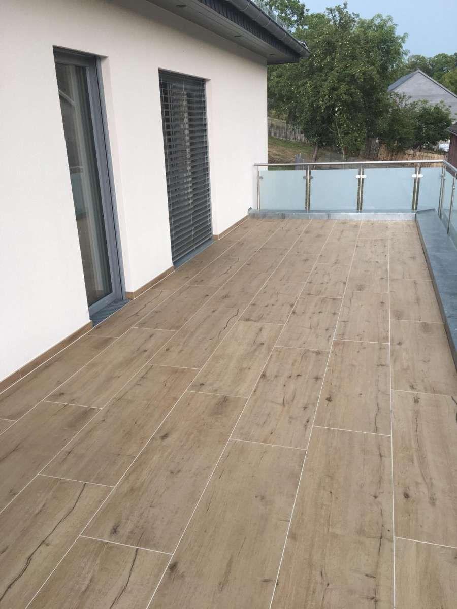Terrassenplatten hellbraun im Holzdesign günstig online