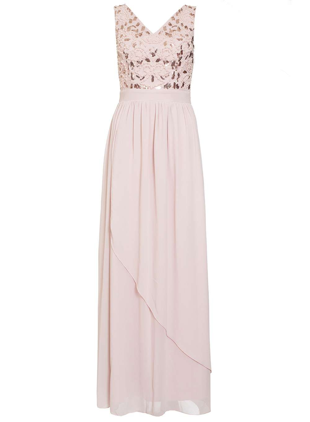 Pink v neck maxi dress  Quiz Pink Waterfall VNeck Maxi Dress  Products