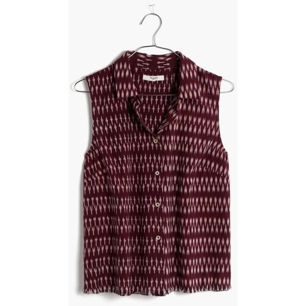 1d3c78a793c84 MADEWELL Moment Shirt in Ikat Print ( 50) ❤ liked on Polyvore featuring tops