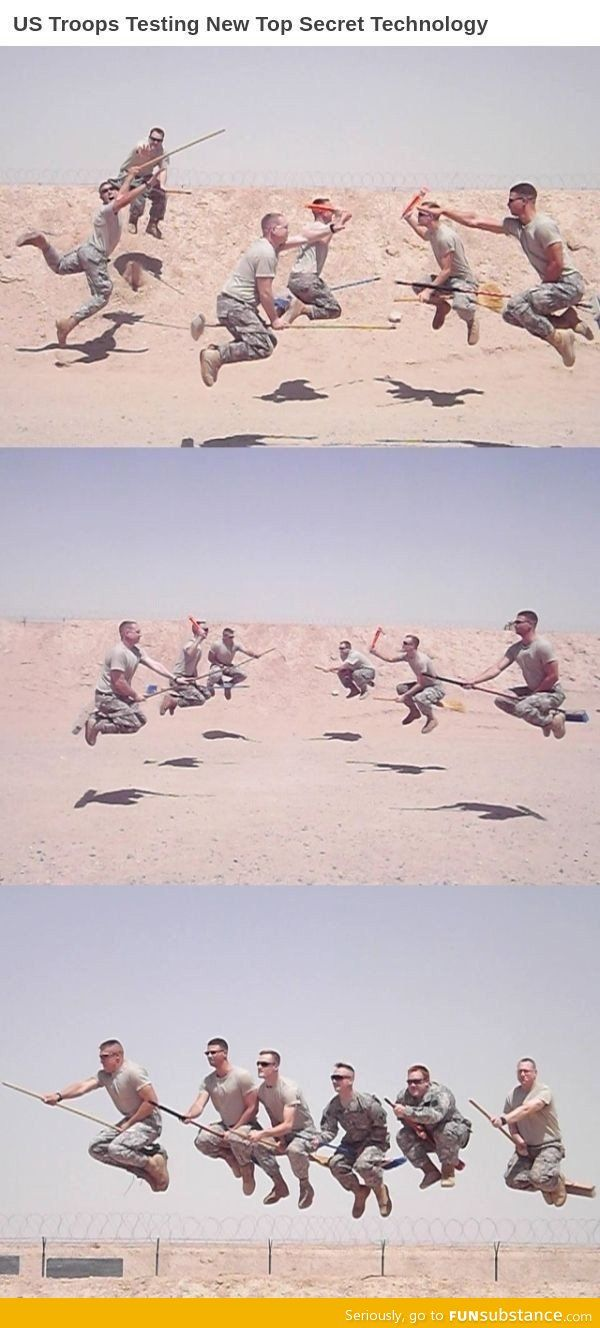 The United States Army Quidditch Team << please tell me they made thes pictures while jumping all at once