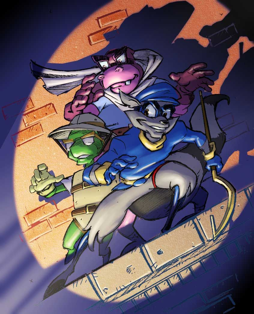 Sly Cooper Retro Gaming Art Sly Game Character