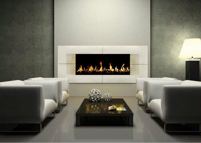custom stone cast fireplace