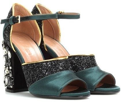 49d22b7c5583 Marni Glitter And Satin Sandals