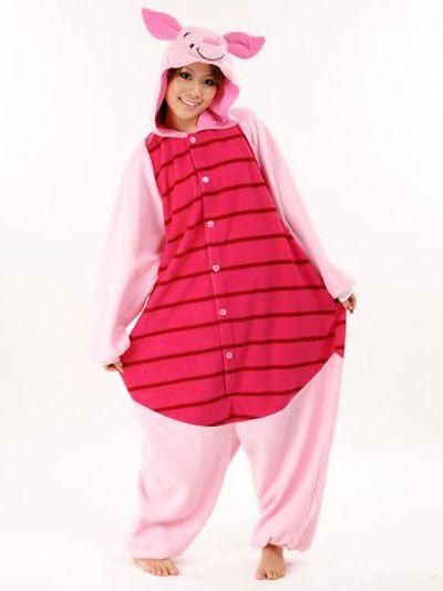 06ec26284e Kigurumi Pajamas Piglet Onesie For Adult fleece Flannel Anime  Cosplay   Costume