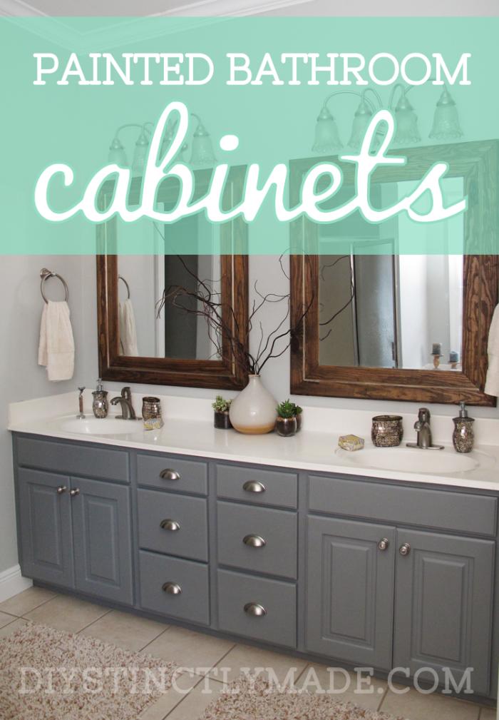 bathroom cabinet online design tool%0A DIY Painted Bathroom Cabinets   Mark Twain House Ombre Gray    DIYstinctlyMade com