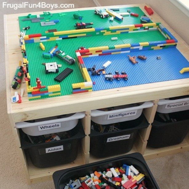 Make the Lego table of your kids\u0027 dreams from Ikea units · Lego Table IkeaTrain ... & Make the Lego table of your kids\u0027 dreams from Ikea units | Lego and ...