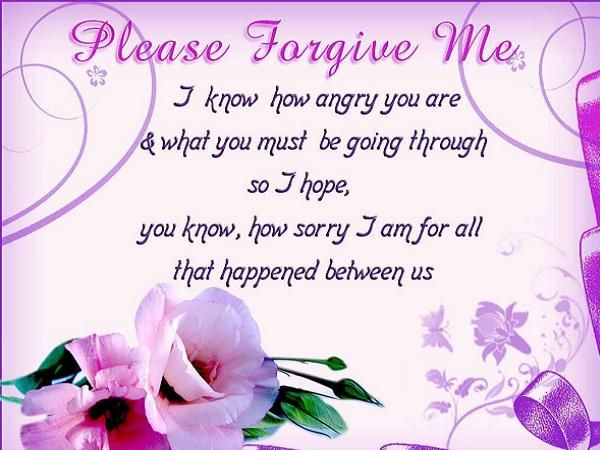 Sorry Messages for Husband Messages, Forgiveness and Friendship - apology card messages