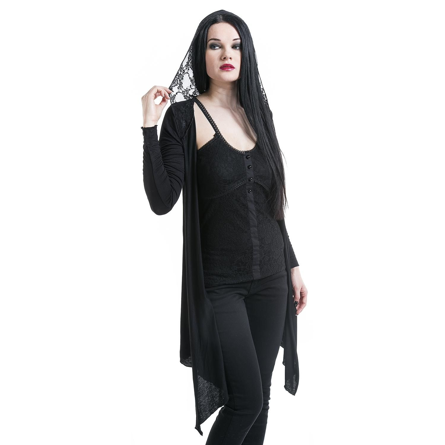 Lace Hood Cardigan von Gothicana by EMP