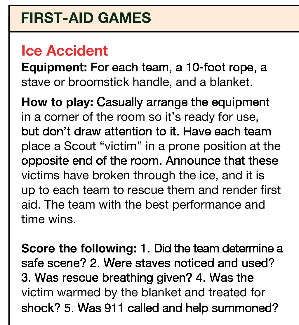 Cub Scout First Aid
