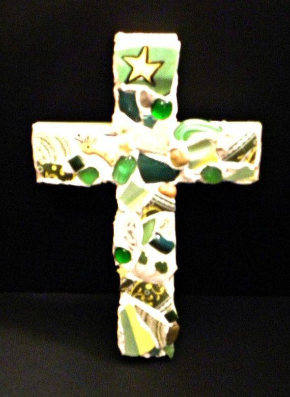 happy green cross by 2STARart on Etsy, $24.00