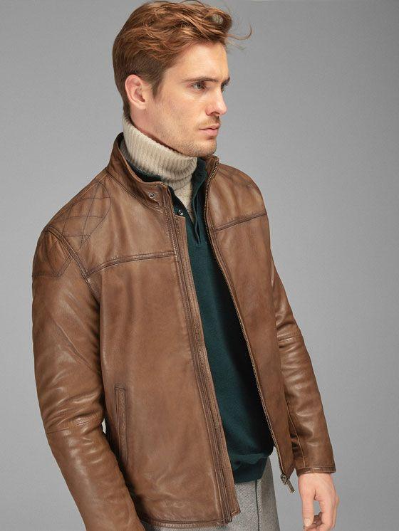 86c3587289b Men's Leather Jackets   Massimo Dutti   my massimo dutti   Leather ...