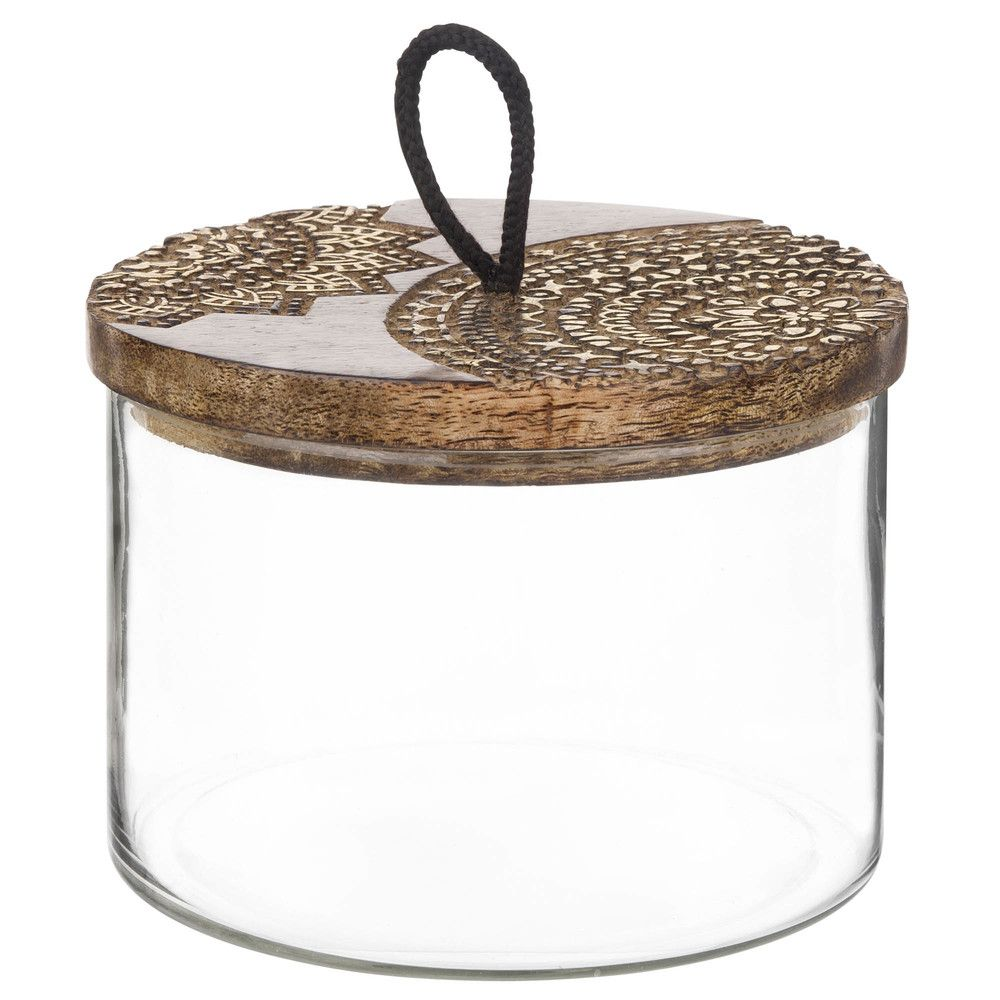 Love The Lid On This Glass Jar Canisters Jars Pinterest