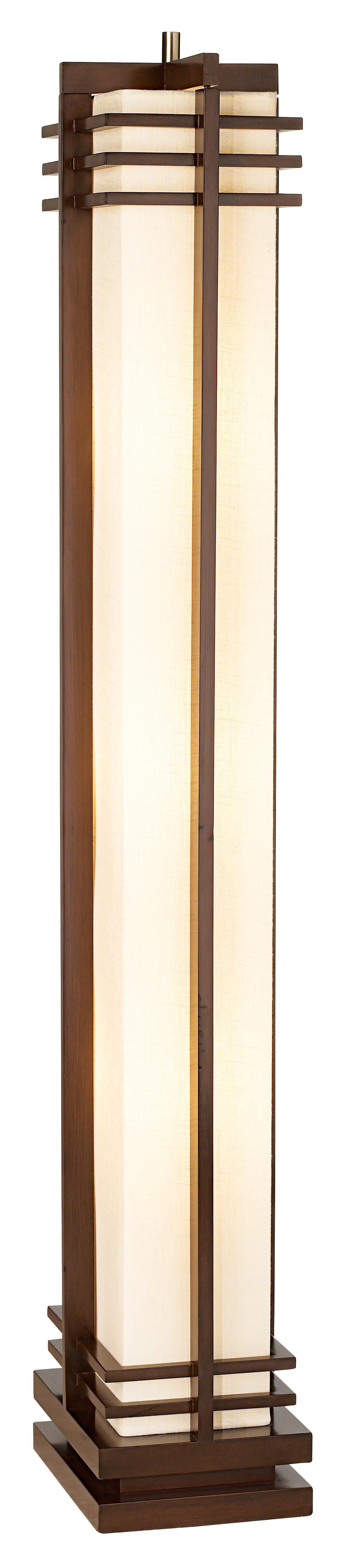 Possini Euro Design Deco Style Column Floor Lamp Chinese Lamp