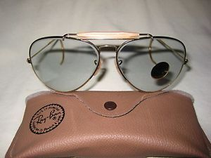 1f839358111 Vintage B amp L Ray Ban Changeable Gray Aviator Outdoorsman LARGE 62mm NEW  w  Tags