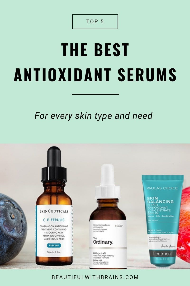 1183d3ccf16 Antioxidant serums are crucial for anti-aging skincare and protecting your  skin. Click this pin to learn the best antioxidant serums for every skin  type and ...
