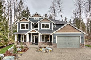 Craftsman Home Exterior bohemian estates - new homes in bonney lake wa - traditional
