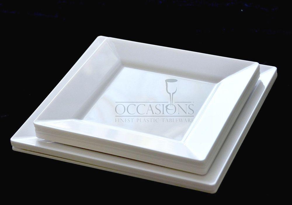 Bulk Square Plastic Plates