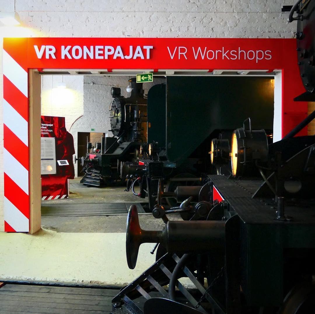 #suomenrautatiemuseo #finnishrailwaymuseum #vrkonepajajat #vrworkshops #konepaja #workshop #nayttelysuunnittelu #exhibitiondesign #exhibitionarchitecture #exhibition #museumdesign #näyttely #museot #museums #hyvinkää