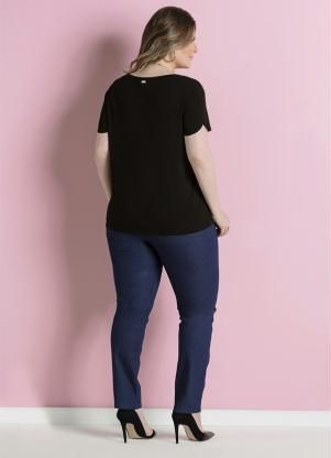 Calça Jeans Skinny Azul Cintura Alta Plus Size - Posthaus Plus Size Art 4b35664dcf8