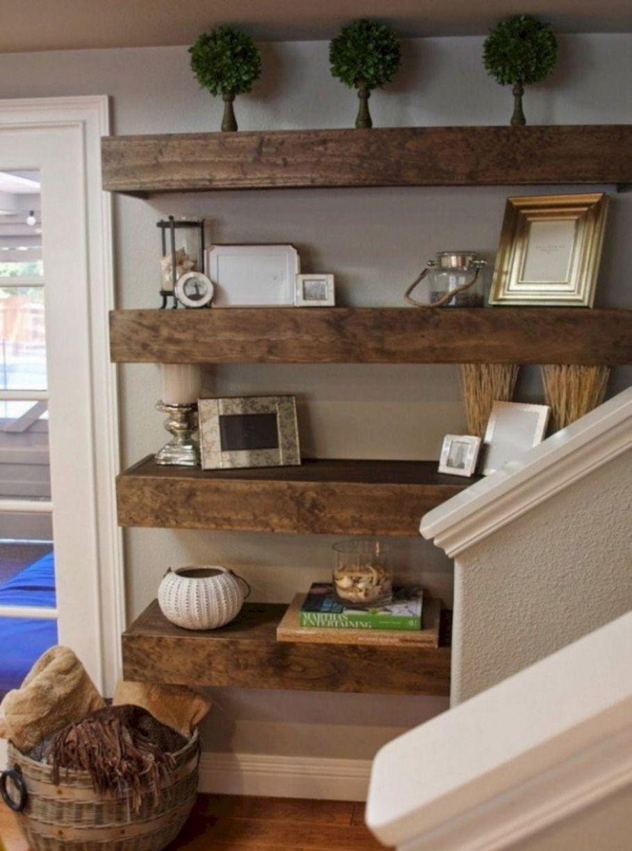Rustic Living Room Storage In 2020 Floating Shelves Diy Diy Apartment Decor Apartment Living Room Design #rustic #living #room #shelves