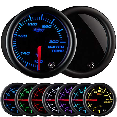 Glowshift Tinted 7 Color 300 F Water Coolant Temperature Gauge Kit Includes Electronic Sensor Black Dial Smoked Lens For Car Truck 2 1 16 Sale Oemp Gauge Kit Air Pressure Gauge Fuel Pressure Gauge