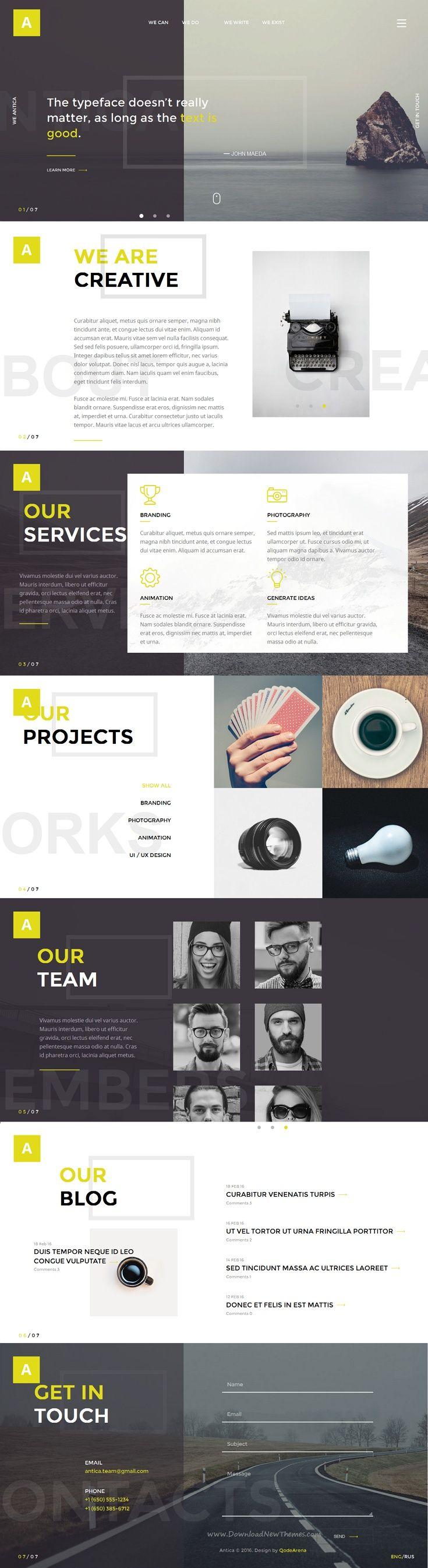 Antica — Multipurpose Business Agency/Personal Portfolio HTML ...