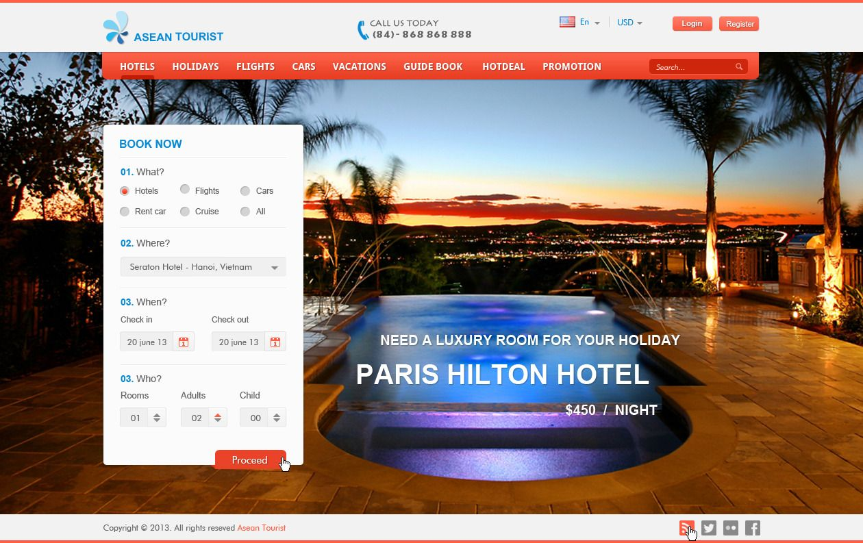 Booking Site Travel Booking Online Psds Design Webdesign Template Web
