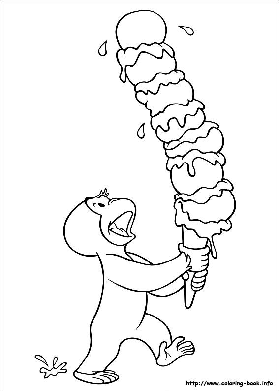 Curious George Coloring Picture Curious George Coloring Pages Birthday Coloring Pages Cool Coloring Pages