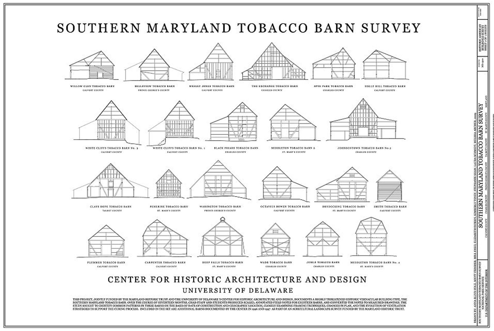 Maryland tobacco barn survey historical architecture