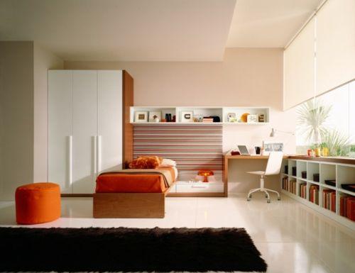 farbgestaltung f rs jugendzimmer 100 deko und einrichtungsideen streifen wand regale. Black Bedroom Furniture Sets. Home Design Ideas