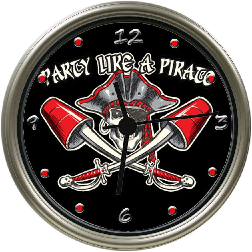 Pirate Photo Wall Clock Large Inventory Of Pirate Wall Decor Themes