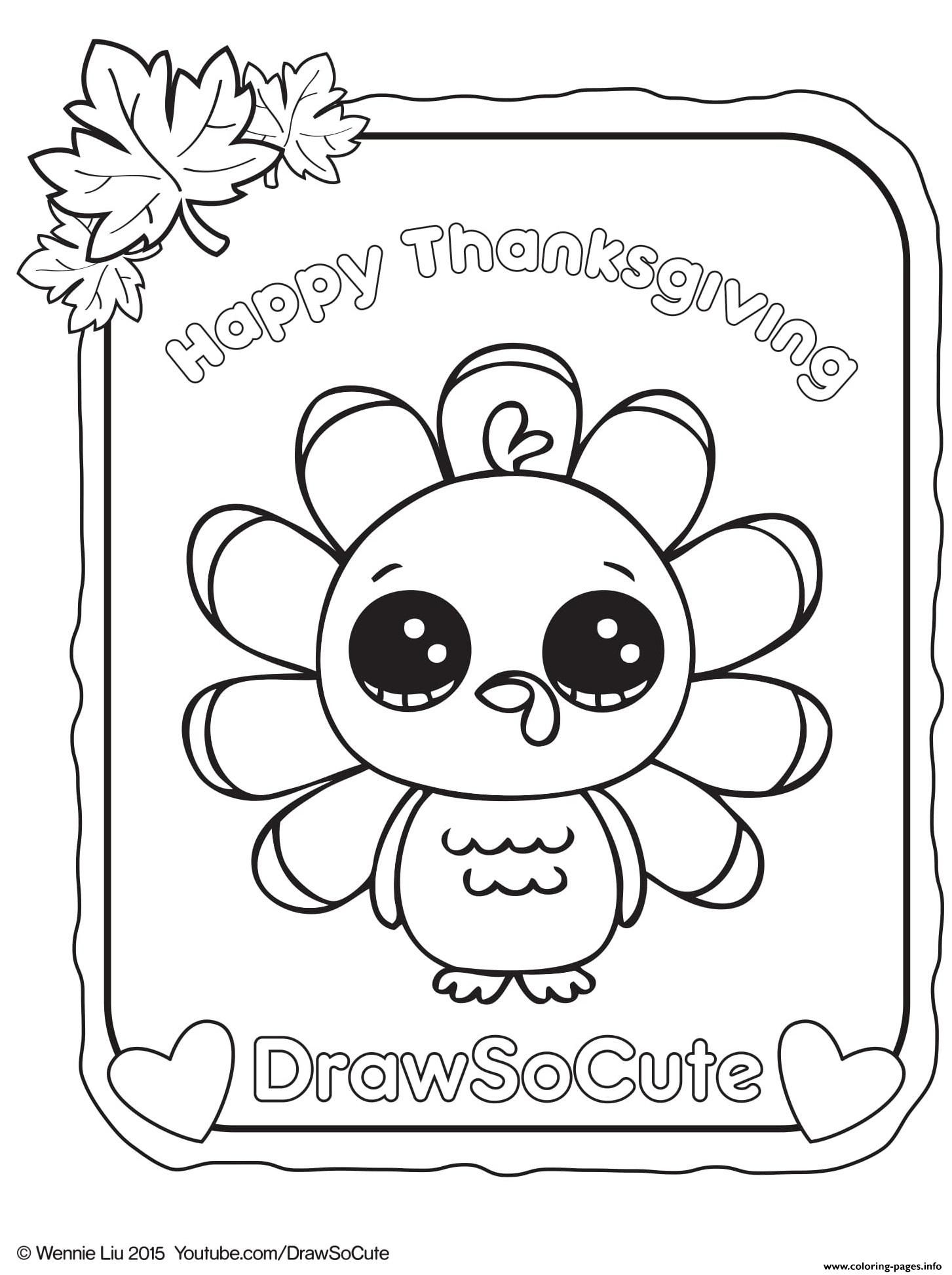 Cute Drawings For Thanksgiving Cute Turkey Drawings