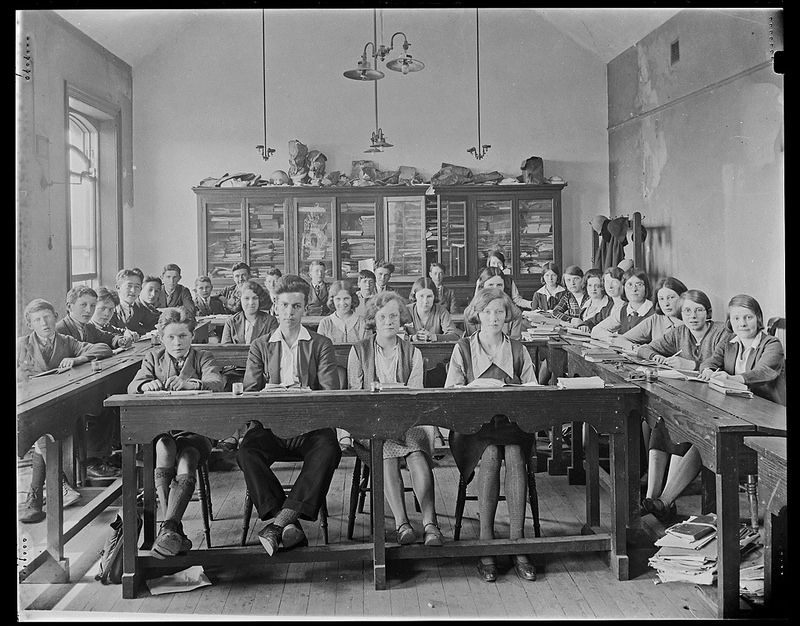 Classroom scene, [Strabane technical school Technical