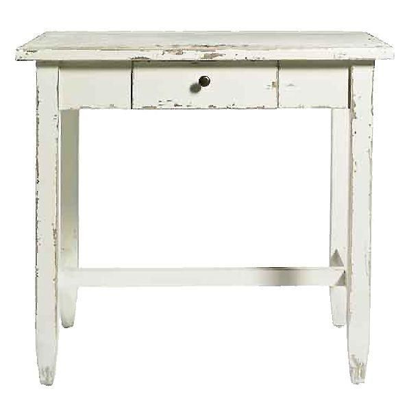 Distressed White Side Table Color Inspiration Pinterest Tables Mirror Furniture And French