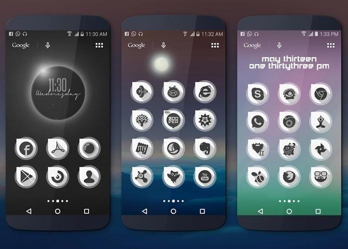 Lee Equinox, un enorme pack de iconos en blanco y negro para Android