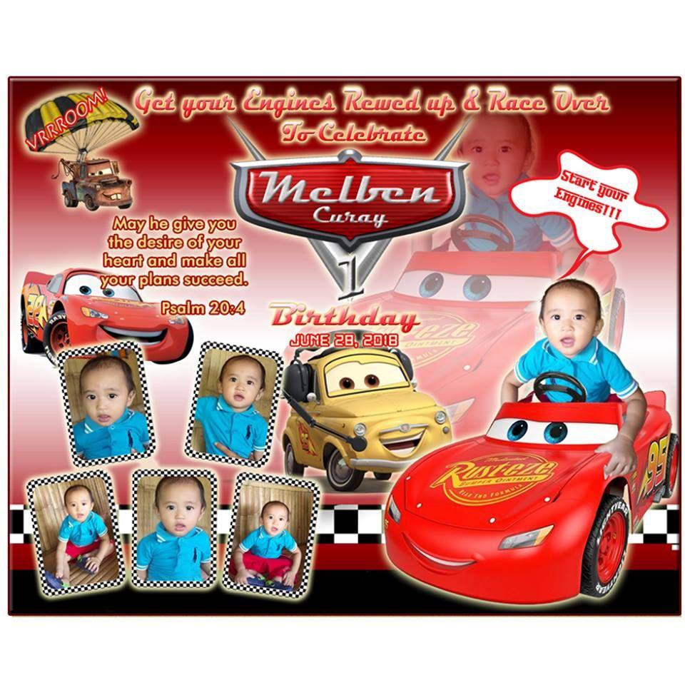disney cars birthday tarpaulin