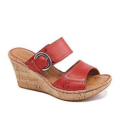 b2d277a5f79 Born Womens Gemala Wedge Sandals  Dillards
