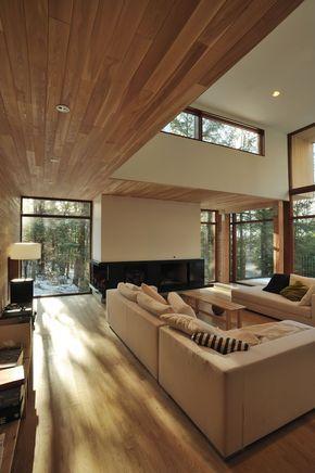 la Maison dans la forêt près du lac u2014 Atelier Pierre Thibault - maison en bois et en pierre