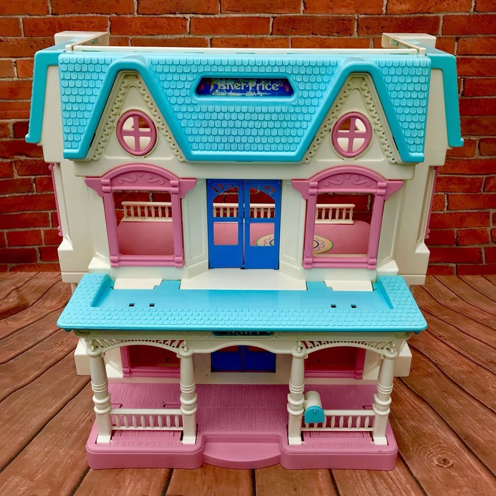 Vintage Fisher Price Loving Family Dolls Play House 6364 Very Rare ...