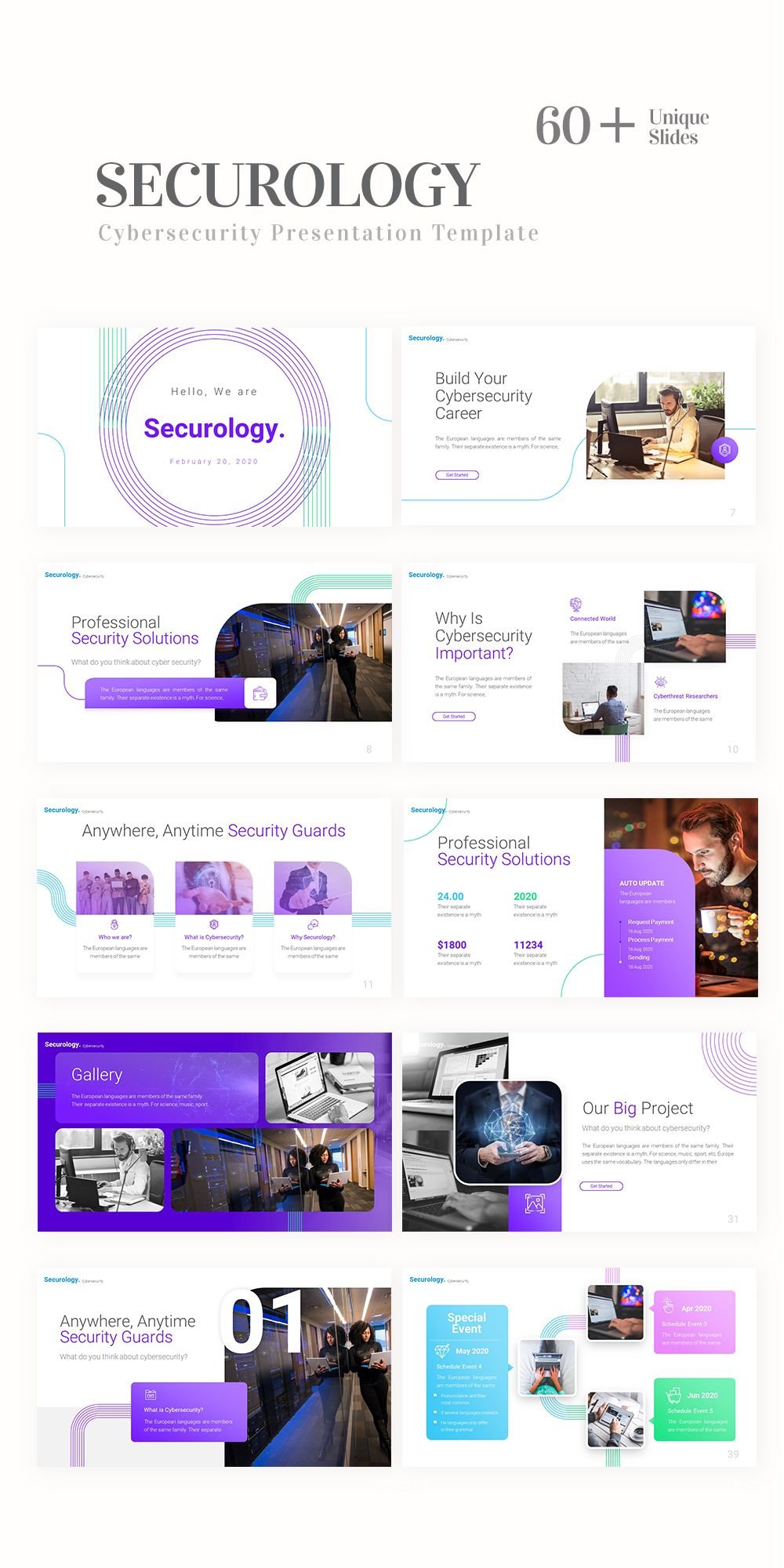 Securology – Cybersecurity  Presentation Template