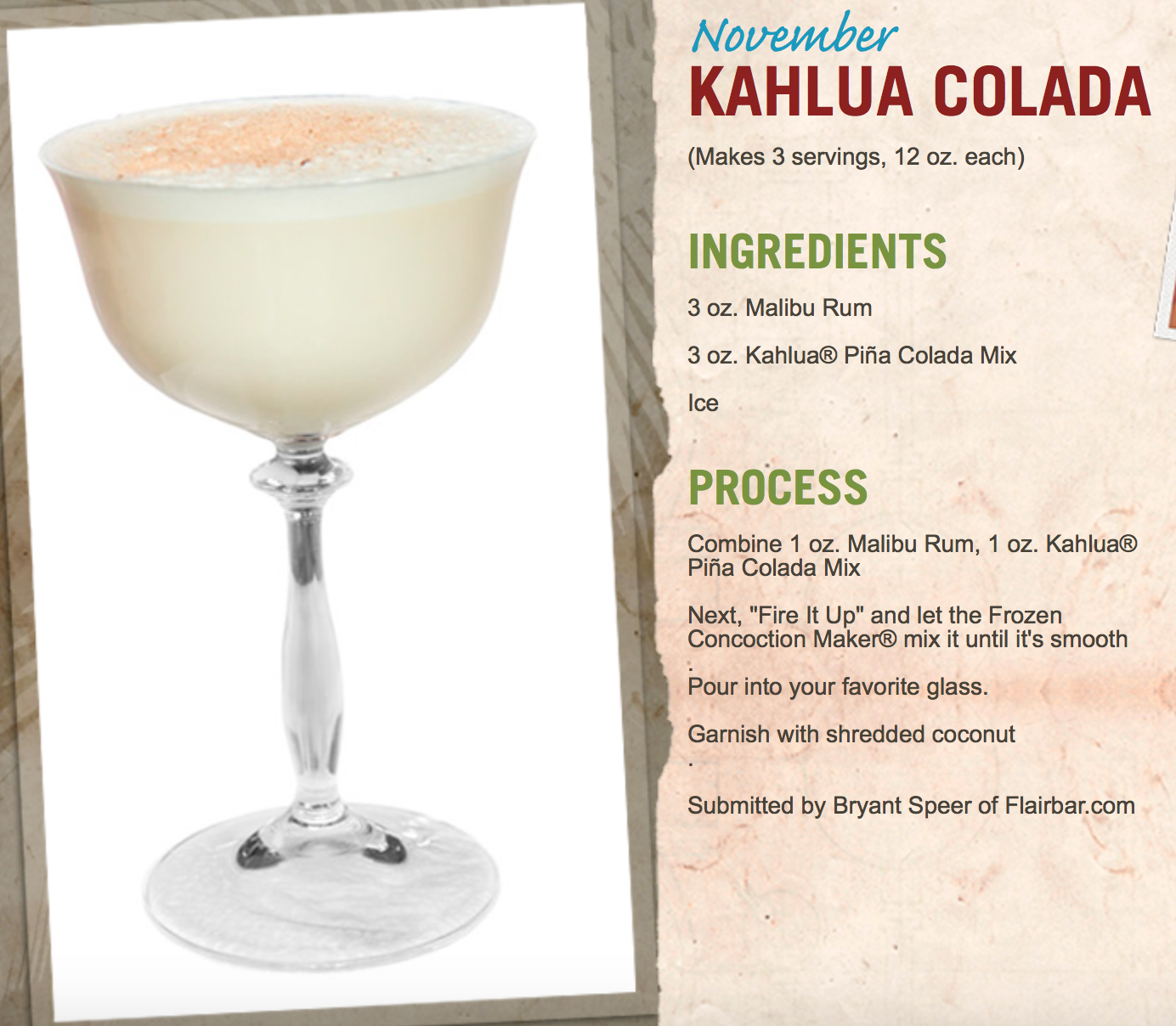 This Kailua Colada Is Delicious For A Sunday