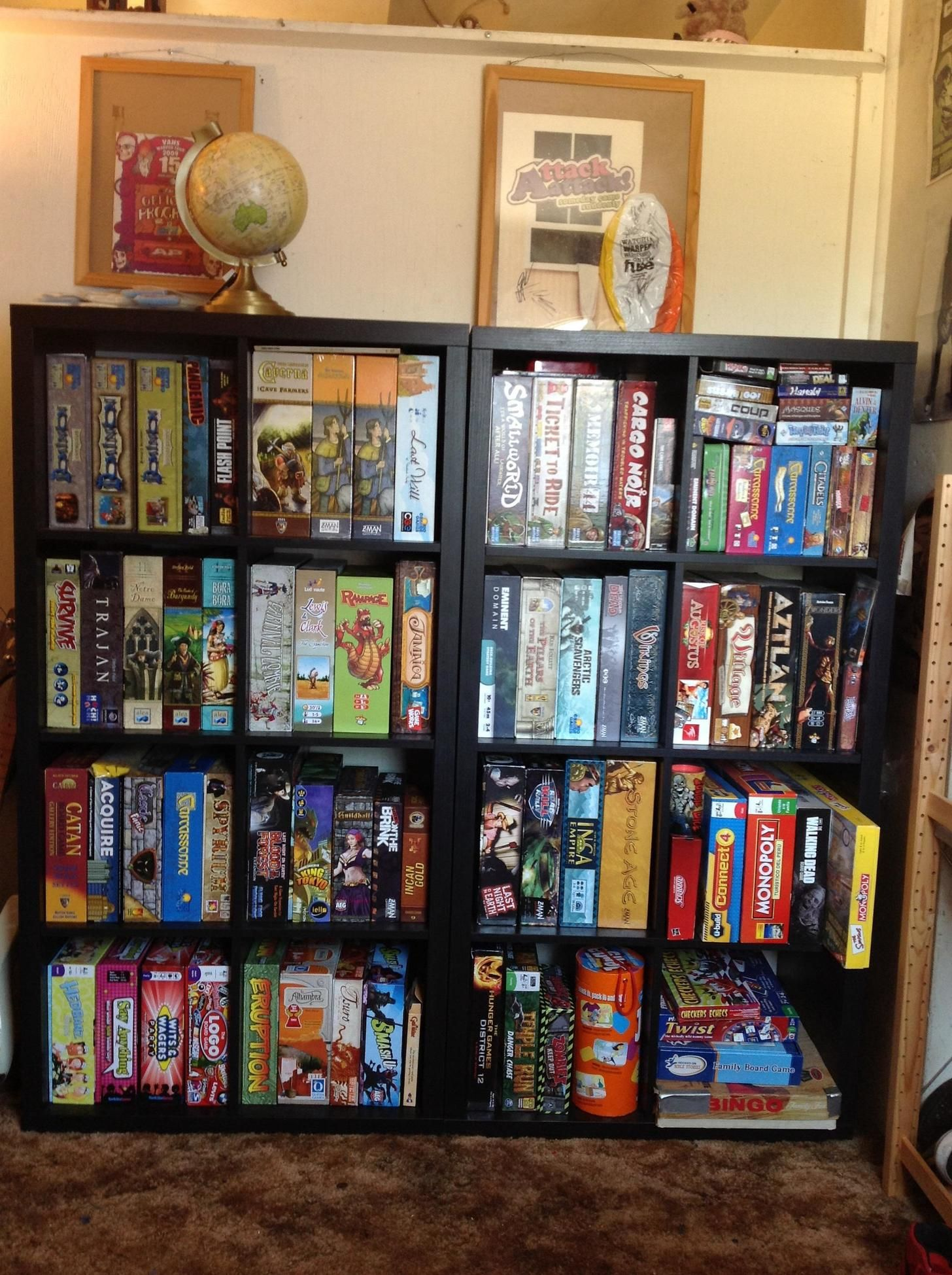 Ikea Kallax Shelves For Games Found From This Reddit Post Https Www Reddit Com R Boardgames Comments 29gvo Board Game Storage Game Room Bar Board Game Room