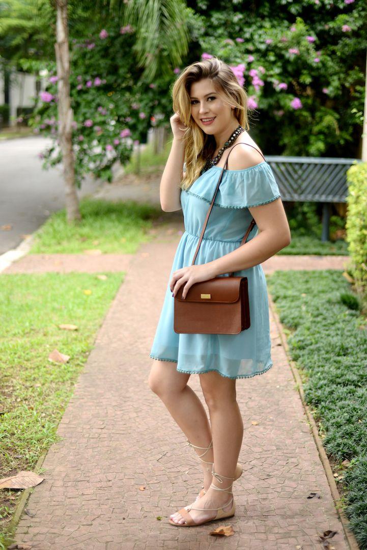Look do dia: vestido turquesa — Niina Secrets